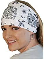 That's A Wrap Unisex Bandana White Paisley Knotty Band, White KB1214