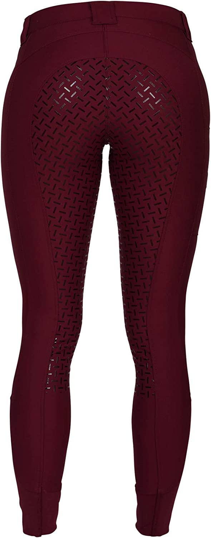 Femme Bordeaux Taille 38 RIDERS CHOICE RidersDeal RidersDeal Pantalon d/équitation pour Femme avec Garniture en Silicone et Poche pour t/él/éphone Portable