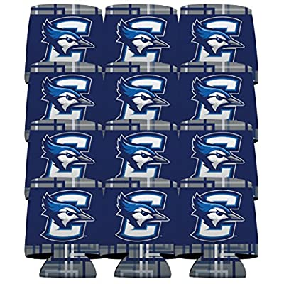 Creighton University Can Cooler Set of 12 - Squares Design