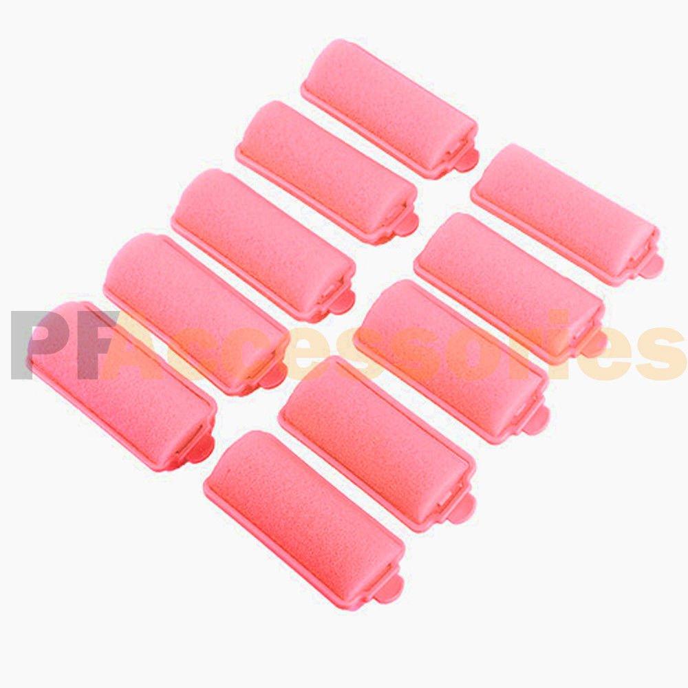10/20/30/50 Pcs Soft Foam Sponge Hair Rollers for Women Hair Curlers Salon (Pink, Pack Of 50)
