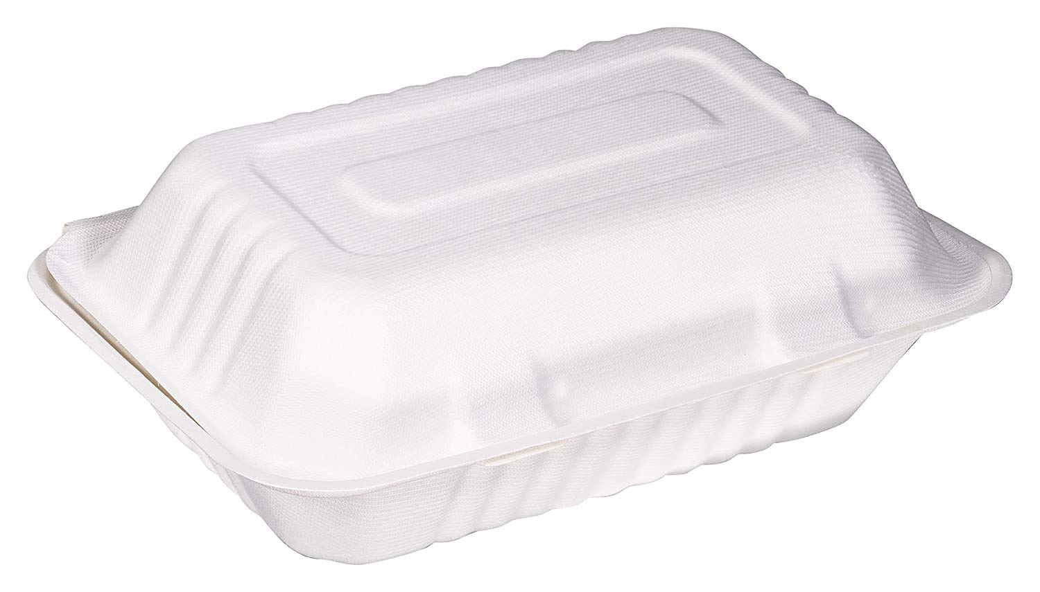 1000 Count - Bulk Biodegradable 9x9 Take Out Food Containers with Clamshell Hinged Lid - Eco Friendly Sugarcane Bagasse 100% Compostable, Recyclable, Togo, Restaurant Carry Out, Party Take Home Boxes