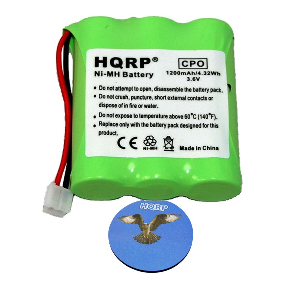 HQRP Phone Battery compatible with General Electric GE 27923, 27928, 27933, 27938, 27944, 27923GE1 Cordless Telephone plus Coaster 884667411011026