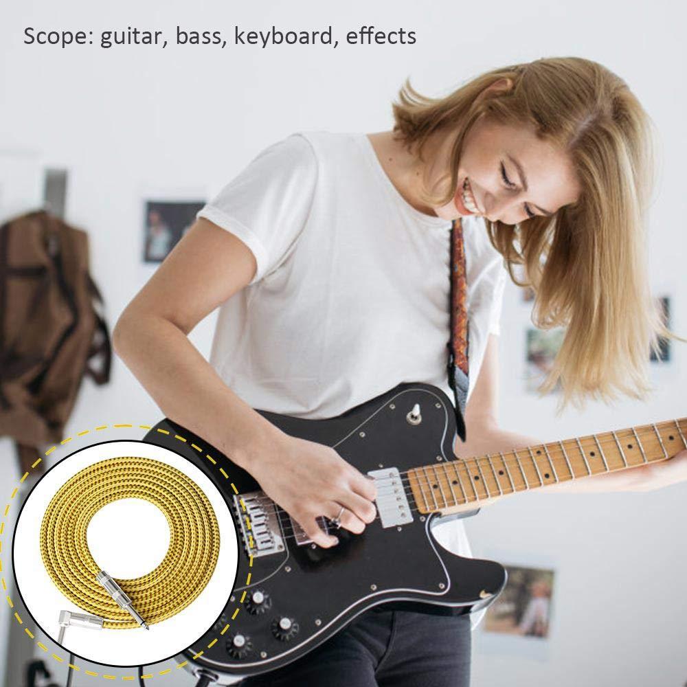 Womdee Cable de Guitarra para Mujer, Serie de Rendimiento, Cables de Instrumentos, Cable de bajo eléctrico Premium para Guitarra eléctrica, bajo, ...