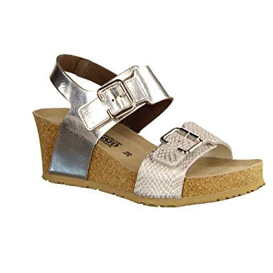 4564d7fd744b01 Mephisto Chaussures Femme Sandales Lissandra Argento Taille 35 Argent