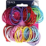 Goody - Ouchless No Metal Gentle Elastics, Assorted Colors, 72 pack
