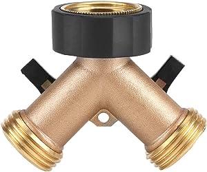Hose Connector Brass Water Tap Adapter 2 Way Y Shape 3/4 Hose Connector for Garden Irrigation(European Standard 3/4)