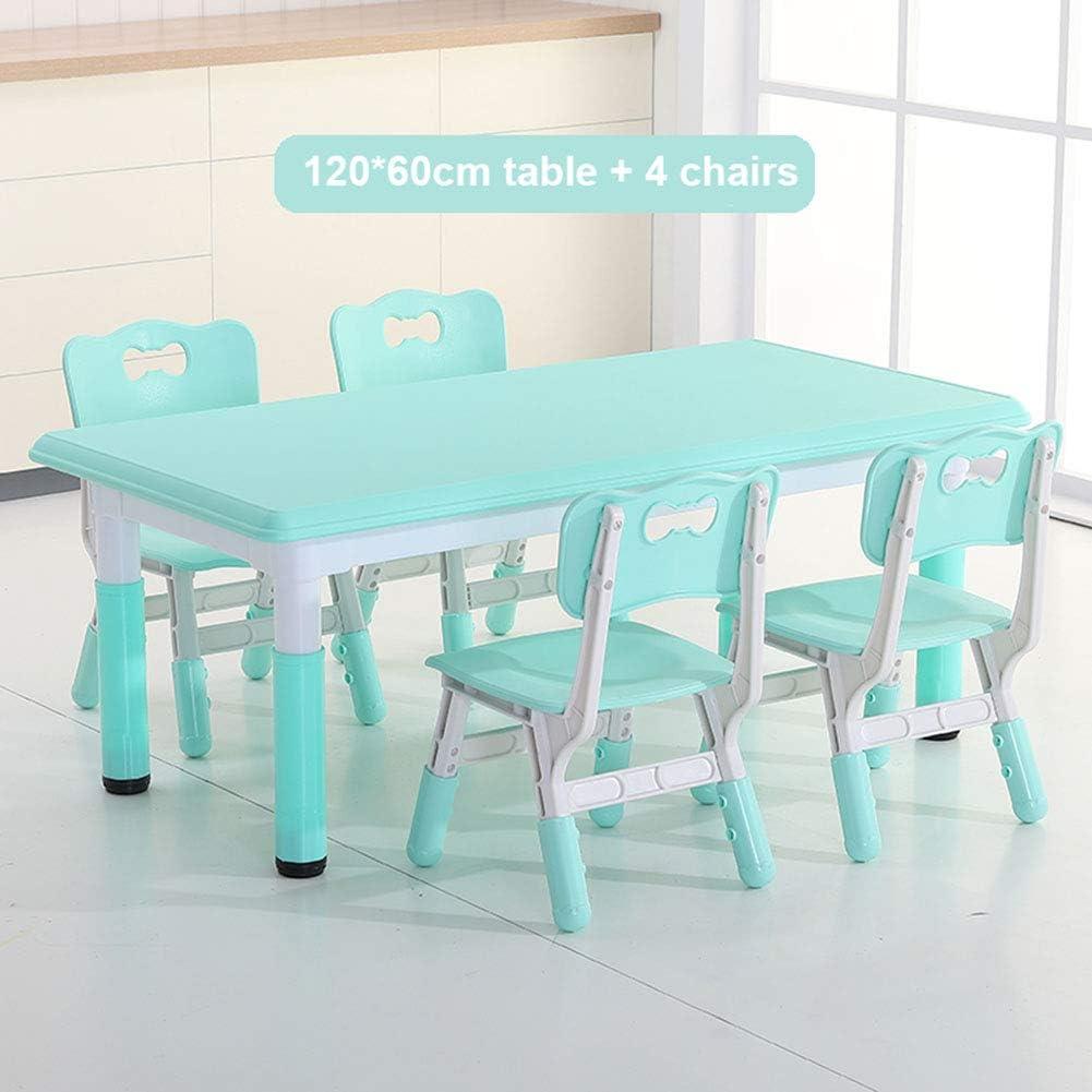 Oypla Kinder Holzkreide Tisch und St/ühle Set Kinderzimmer M/öbel