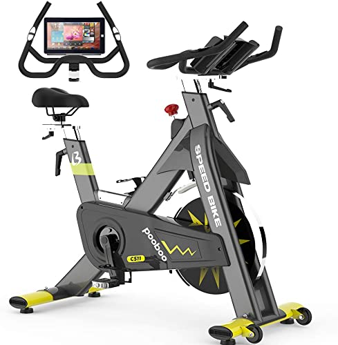 pooboo Commercial Stationary Bike Belt Drive Indoor Cycling Bike Indoor Exercise Bike
