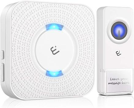 AVANTEK 1000ft Long Range Door Bells Mini IP55 Waterproof 1 Wireless Doorbell