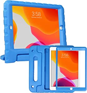 HDE iPad 8th Generation Case for Kids with Built-in Screen Protector – Shock Proof iPad Cover 7th Generation 10.2 - iPad 10.2 Kids Case with Handle Stand for 7th/8th Generation Apple iPad - Blue