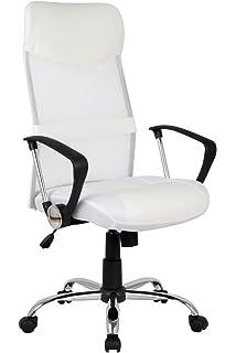 Design - Sillón de oficina Silla de oficina Silla giratoria blanca - H-