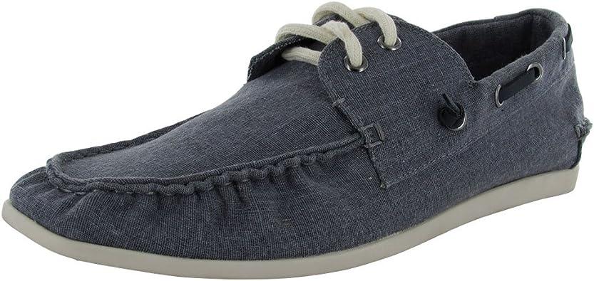Comida prisión veredicto  Amazon.com   Steve Madden Mens Hitch Nautical Slip On Moc Boat Shoe, Blue  Fabric, US 11.5   Shoes