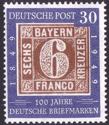 Goldhahn BRD Nr. 115 IV postfrisch  Plattenfehler Briefmarken für Sammler