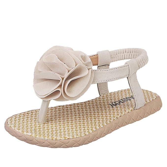 Yikey Girls Sandals Summer Infant Baby Girls Flower Beach Priness Shoes Sandals