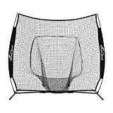 Summates Baseball and Softball Practice Net 7 x 7ft (Black)
