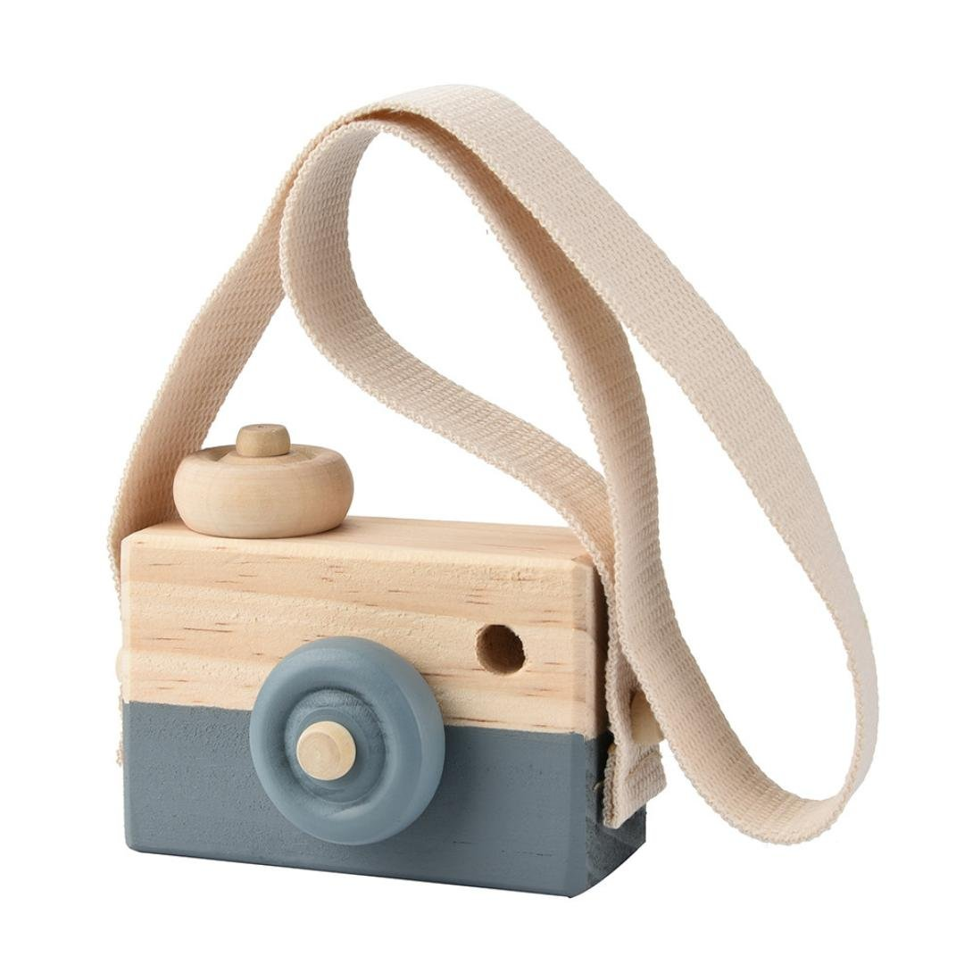 CSSD Wooden Toy Camera, Kids Creative Neck Hanging Rope Toy Photography Prop Gift
