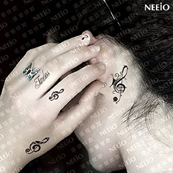 Amazon Com K Style Temporary Tattoos Note Aesthetic Hand Ring