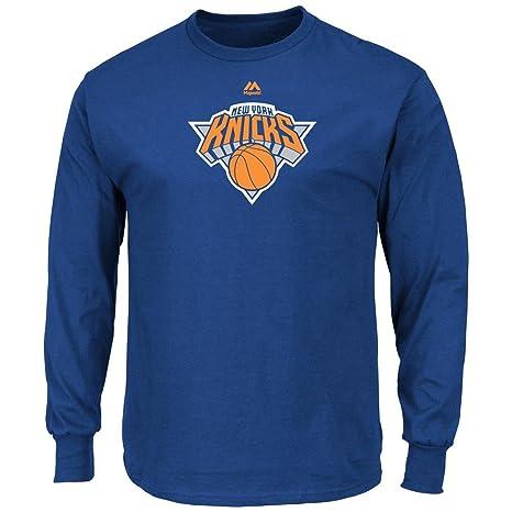 ec19f66c282 Amazon.com : New York NY Knicks Long Sleeve Majestic Logo T-Shirt ...