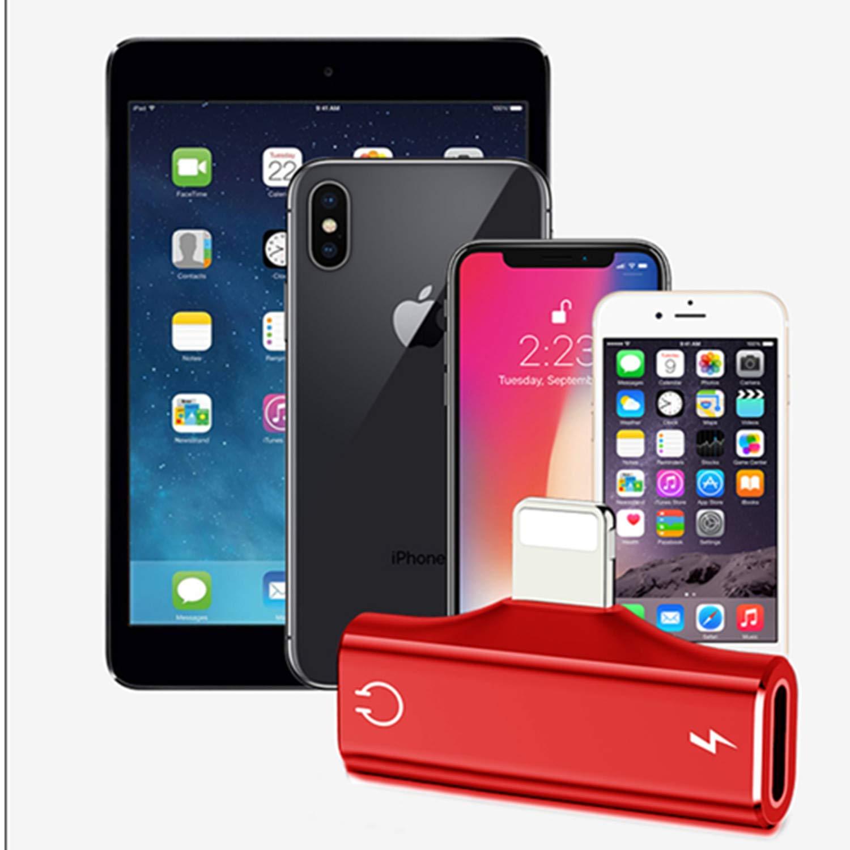 Adaptateur de Casque pour iPhone 2 en 1 Adaptateur de Audio et de Charge pour iphone 11 Pro Max//XS//XS Max 7Plus 8 //8plus //7 Black