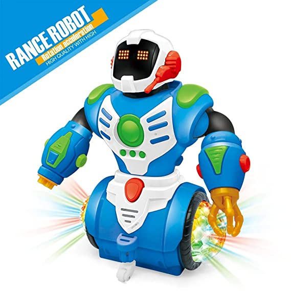 Zest 4 Toyz Electric Dancing Intelligent Rotating Space Children Robot Toy Series Action Figure Toy Model Action Figure Toy for Child