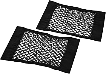 Universal Mesh Cargo Net Velcro Car Storage Wall Sticker Organizer Pouch Bag Storage Mesh Net for Car Trunk,car net Bag ,Car Network Organizer Pack of 2