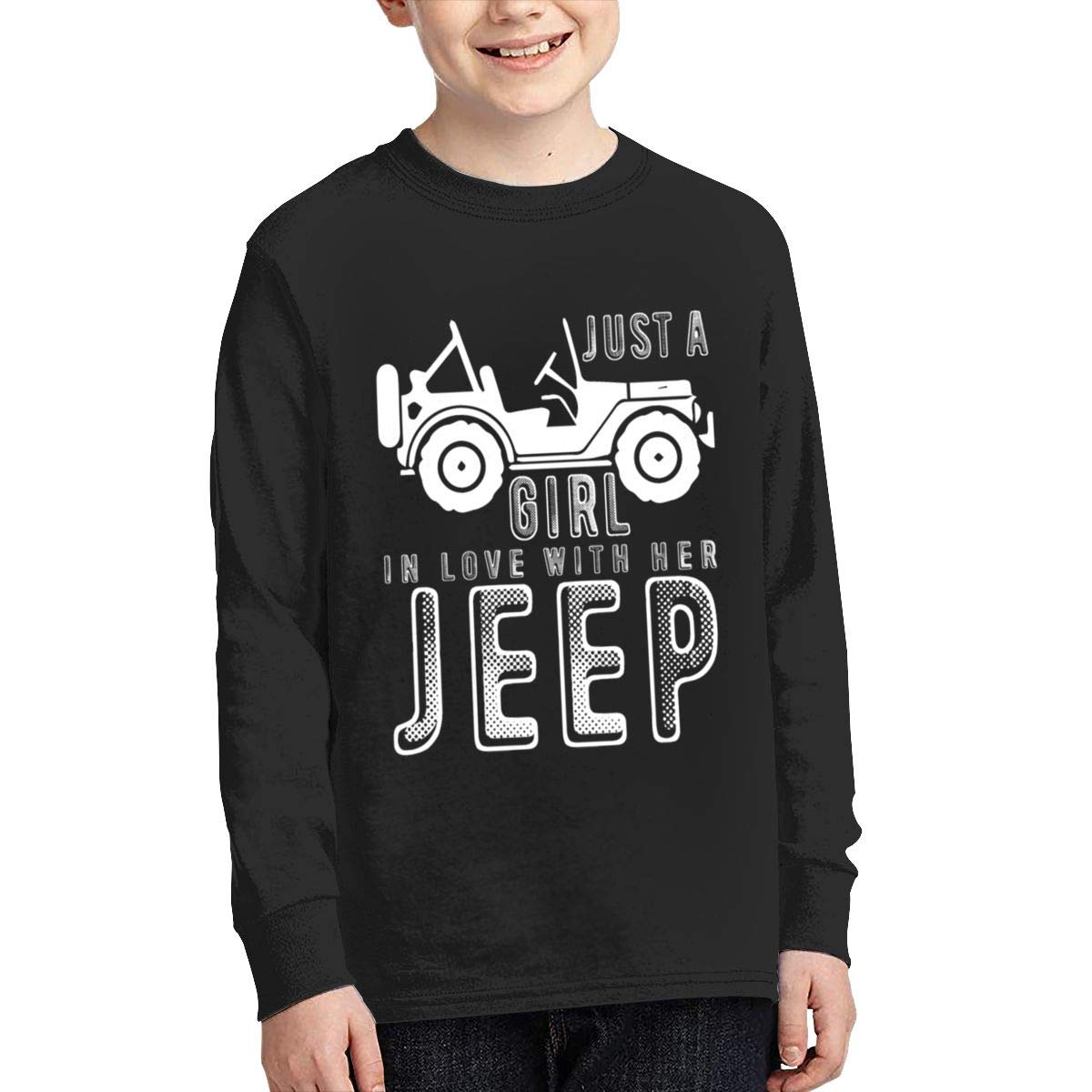 Just A Girl in Love with Her Jeep Long Sleeves Shirts for Girls