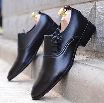 HYLM Hombres Zapatos De Boda Estilos De Pelo Blanco Zapatos Hombre De Cuero De Negocios Zapatos