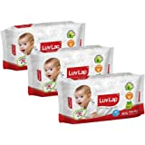 Luvlap Paraben Free Baby Wet Wipes with Aloe Vera (80 Wipes, Pack of 3, 240 Sheets)