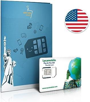 Prepaid Sim Karte Usa 5gb 4g Lte Unbegrenzte Amazon De