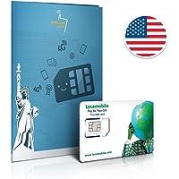 Carte SIM USA prépayée - 4 Go en 4G - Appels & SMS illimités vers le monde - 30 Jours