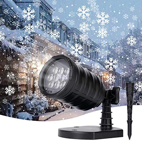 Brightown Christmas Snowflake Projector Lights – LED Snowfall Show Outdoor Waterproof Landscape Decorative Lighting for Xmas Holiday Party Wedding Garden Patio