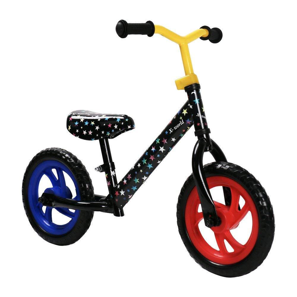 JOYSTAR 12'' Kids Balance Bike for Toddler 1.5-5 Years Old, Toddler Push Bike with EVA Polymer Foam Tire for Boys & Girls, 12 INCH Kids Glider Bike, Black