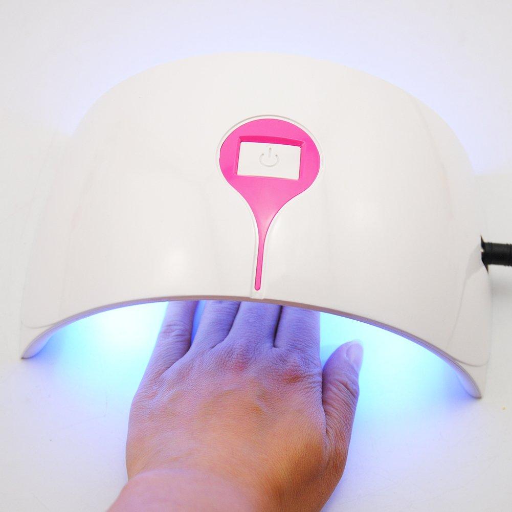 Coscelia NagelgelSet 24W profi UV Lampe Nageltrockner UV Gel Farbgel ...