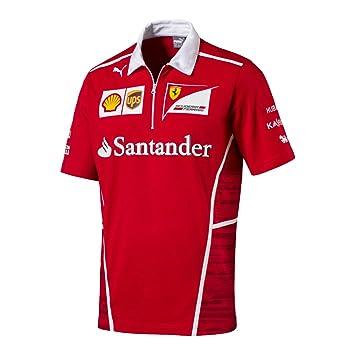 Ferrari F1 Racing Replica SF Team Puma Polo Camisa Rojo Oficial ...