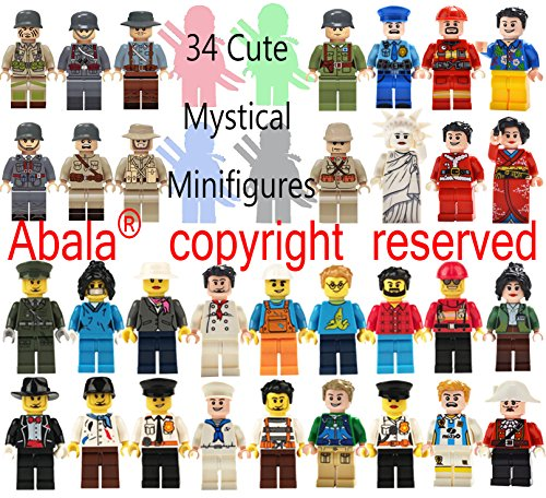Abala Minifigures Building Bricks Men/Women Family Fun Favor Set, Compatible Figures Variety Community People Interchangeable Hats Bodies Legs Assemble Building Party Toys Kit (V2.0) (Mini Figure Legs)