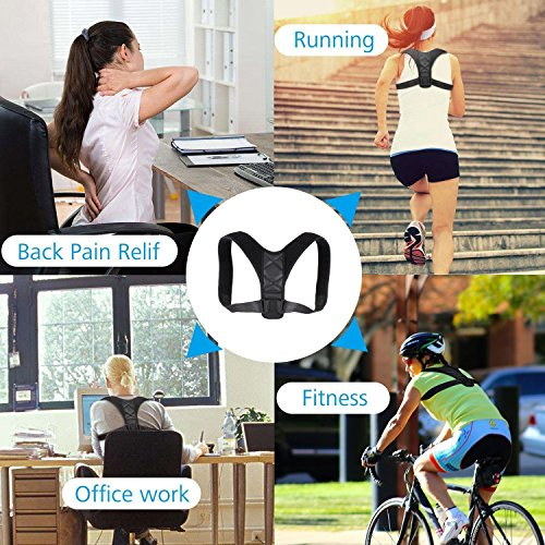 Adjustable Posture Corrector For Men & Women Clavicle Support, Improve Bad Posture, Shoulder Alignment, Muscle Memory, Upper Back and Neck Pain Relief by Tech-Prime (Image #7)