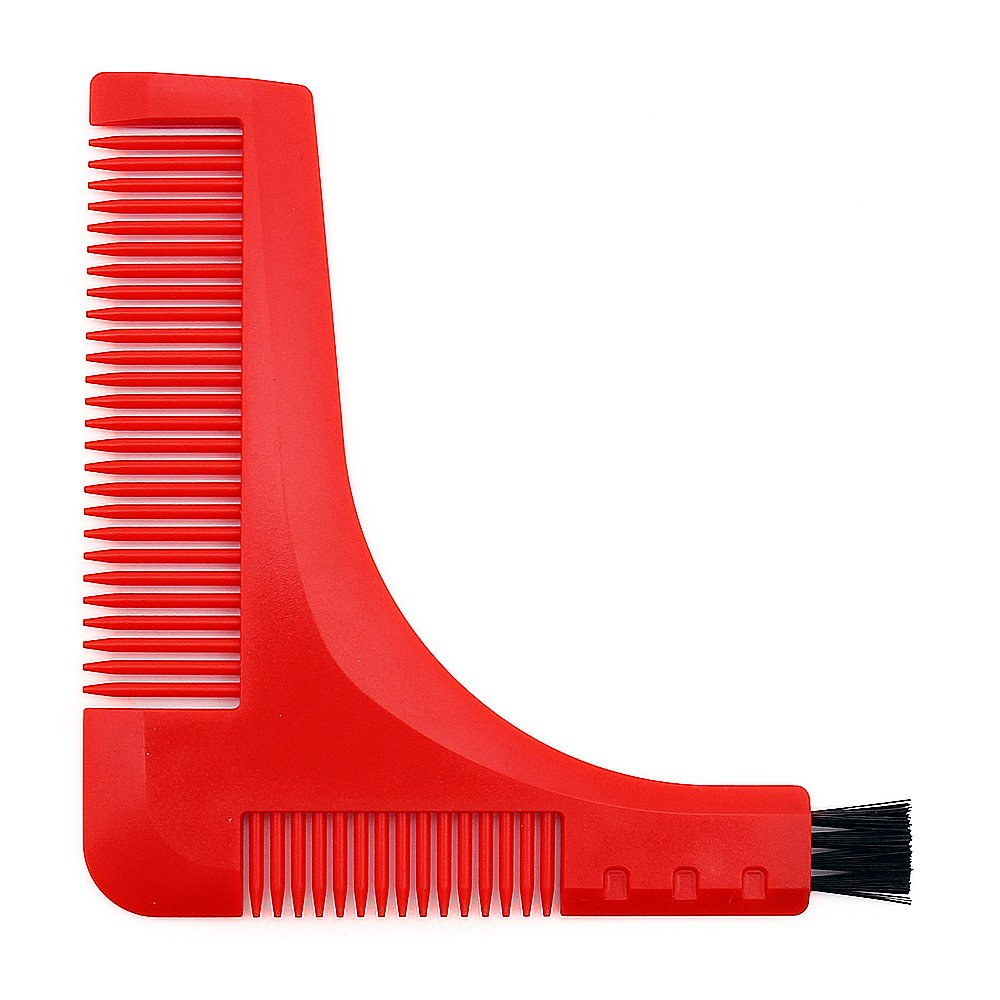 BEWAVE Beard Shaper, Beard Shaping Comb Template Ruler, Perfect Symmetric Lines for Mustache Goatee Side Burns Neck, Curve, Step, Straight Cut, Goatee, Perfect Neck Line (Golden) Zhenmei Beauty