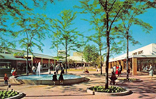 Skokie Illinois Old Orchard Shopping Mall Vintage Postcard - Orchard Mall Shopping