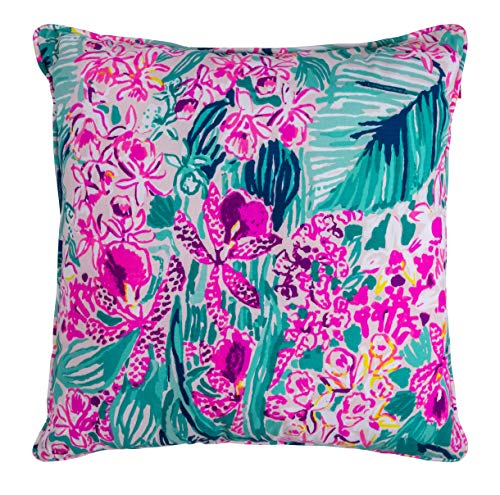 Lilly Floral (Lilly Pulitzer Indoor/Outdoor Large Decorative Pillow (Slathouse))