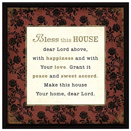 Amazon.com: Bless This House Wood Frame Plaque with Easel: Home ...
