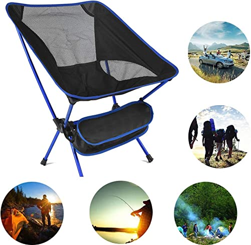 XHSP Portable Camping Chair,Ultralight Backpacking Folding Camping Chair,Foldable Packable Lightweight Beach Chair in a Bag for Outdoor, Camping, BBQ, Beach, Travel, Picnic, Festival