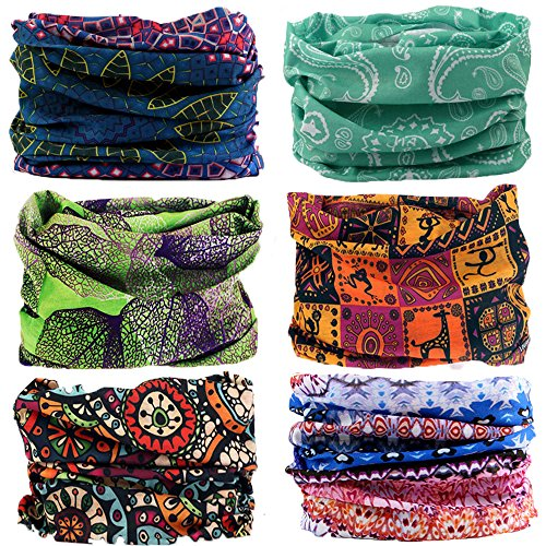 - NEXTOUR Neck Gaiter Headwear Headband Magic Scarf Seamless Bandana for Runing, Fishing, Hiking, Motorcycle 12 in 1 Multi Function for Women and Men