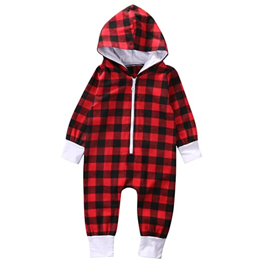 d1cb565c03 Amazon.com  Emmababy Baby Kids Jumpsuit Boys Girls Zipper Romper Spring  Autumn Winter One Piece Cotton Outfit  Clothing