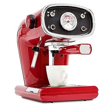 Retro Profesión Maquina de cafe Semiautomático Cafetera Casa Comercial 15 Bar Bomba de presión Vapor Ajuste Espuma de leche Filtrar Con un termómetro, 800W, ...
