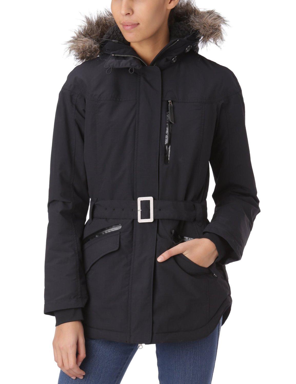 Columbia BEVERLY MOUNTAIN II Women's Winter OMNI HEAT SKI Jacket $200 black (Medium)