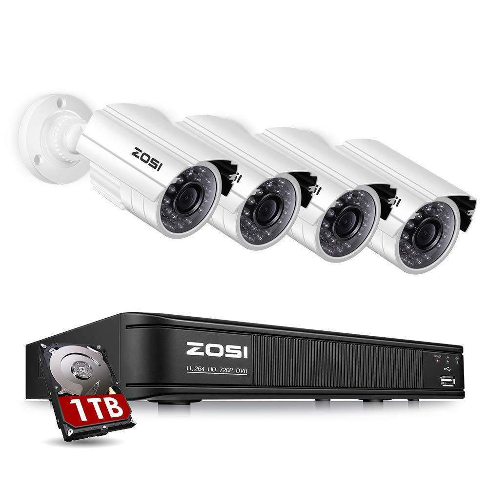 割引購入 ZOSI CCTV 防犯カメラ監視カメラセット ZOSI 200万画素 B07R58YZZB 8CHデジタルレコーダー+4台カメラ HDD-1TB 暗視機能 防水仕様 パソコン/iPhone/アンドロイドスマホ遠隔監視対応 HDD-1TB 200万画素8CHレコーダー+4台カメラ+1TBハードディスク B07R58YZZB, 矢部村:a2a91f01 --- dou13magadan.ru