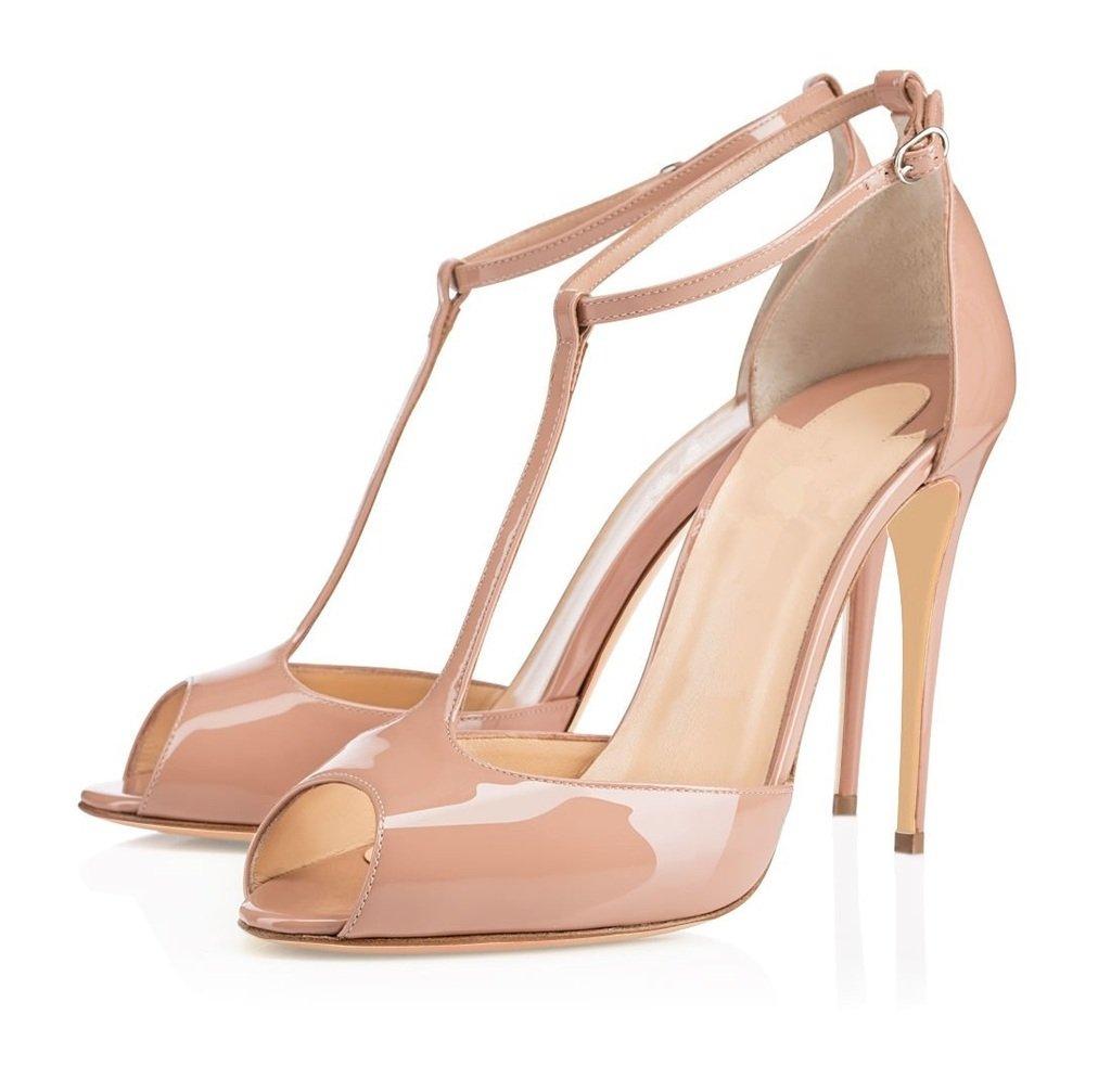 EDEFS Damen T-Spangen Pumps Stiletto Heels Knöchelriemchen Schuhe mit T- Strap: Amazon.de: Schuhe & Handtaschen