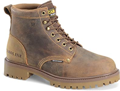 Carolina 6 Plain Toe Waterproof EH Work Boot