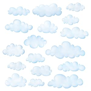 DECOWALL DS-8030 Clouds Kids Wall Stickers Wall Decals Peel and Stick Removable Wall Stickers for Kids Nursery Bedroom Living Room (Small)