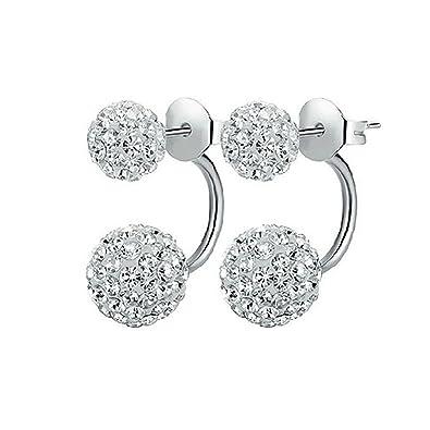 Ohrringe zwei kugeln silber